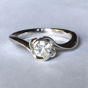 FIRM💎 Moissanite Fire Sterling Silver Ring